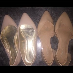 Bundle of 2 nude flats from Express & Old Navy